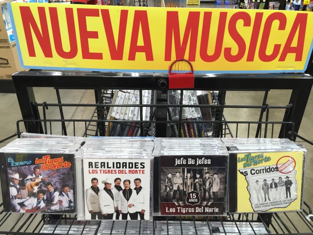 One of the most popular and ubiquitous bands in Mexico, you can find a Los Tigres del Norte CD almost anywhere - theses CDs were found in a Superior Market in Northeast Los Angeles