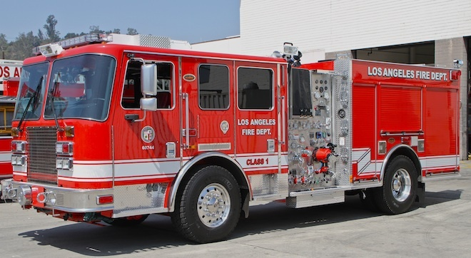 A Los Angeles Fire Department engine.