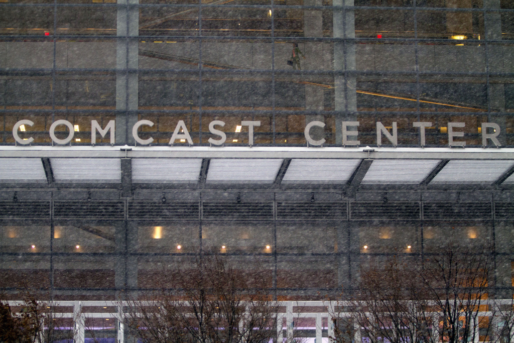 Comcast headquarters in downtown on February 13, 2014 in Philadelphia, Pennsylvania. Comcast recently announced its intent to acquire Time Warner Cable in a $45 billion deal.