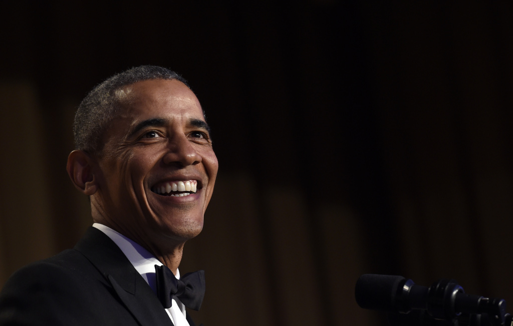 President Barack Obama speaks at the annual White House Correspondents' Association dinner at the Washington Hilton in Washington, Saturday, April 30, 2016. (AP Photo/Susan Walsh)