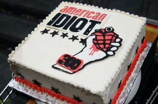 A general view of atmosphere at the 300th performance of 'American Idiot' on Broadway.