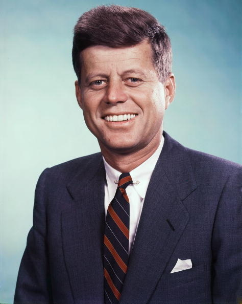 UNITED STATES - :  President John F. Kennedy photographed in the Daily News color studio...  (Photo by NY Daily News Archive via Getty Images)