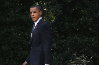 U.S. President Barack Obama walks out of the West Wing of the White House on August 16, 2010 in Washington, DC. President Obama is traveling to Wisconsin and California to attend fundraisers.