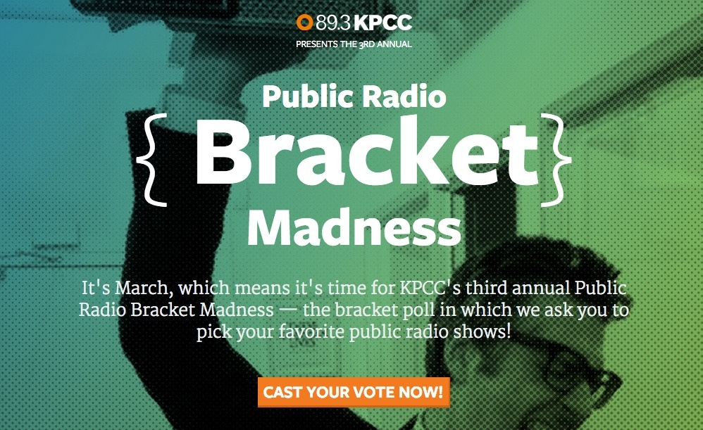 Public Radio Bracket Madness image