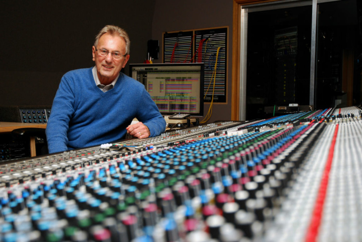 HOLLYWOOD, Calif. -- 21-time Grammy Award-winner Al Schmitt sits behind one of the largest sound boards in the recording industry in Studio A at the Capitol Records Building, Feb. 4, 2013. Schmitt, who has produced several U.S. chart-toppers by artists such as George Benson, Steely Dan, and Ray Charles, says that the board