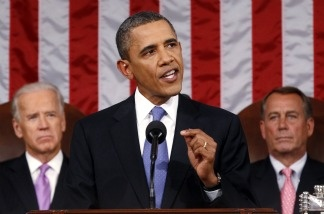 President Barack Obama delivers a speech to a joint session of Congress at the Capitol in Washington, Thursday, Sept. 8, 2011.