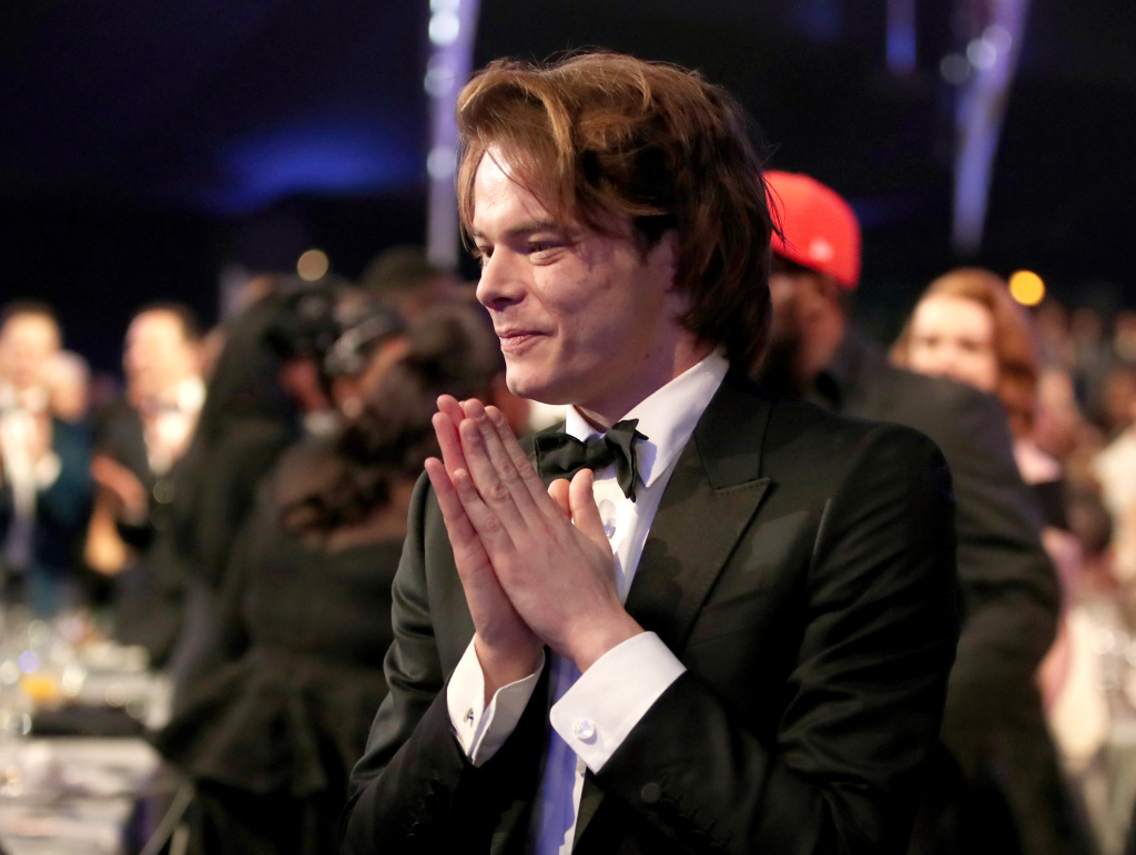 Actor Charlie Heaton during the Screen Actors Guild Awards on January 29, 2017 in Los Angeles, California.