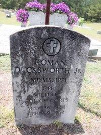 Roman Ducksworth's grave at the Cherry Grove Baptist Church, Taylorsville, Miss.