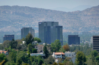 Warner Center in Woodland Hills seen from afar.