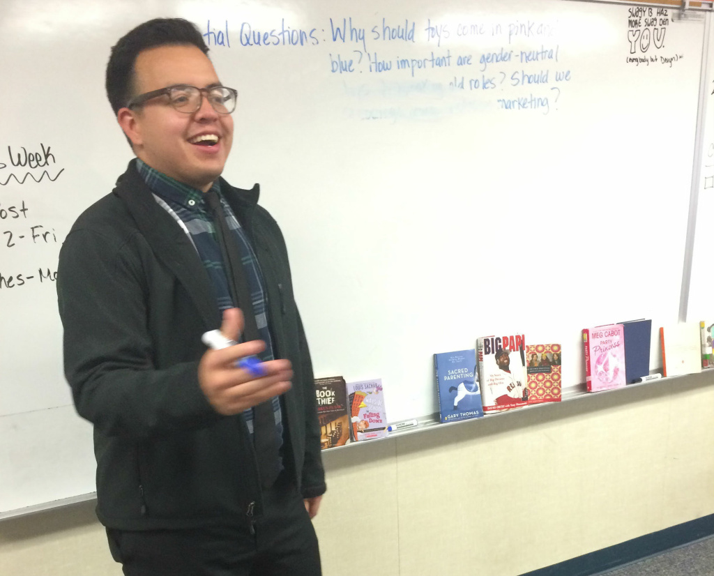 Jonathan Bernal teaches 8th grade language arts at Topaz Preparatory Academy in Hesperia, Calif.
