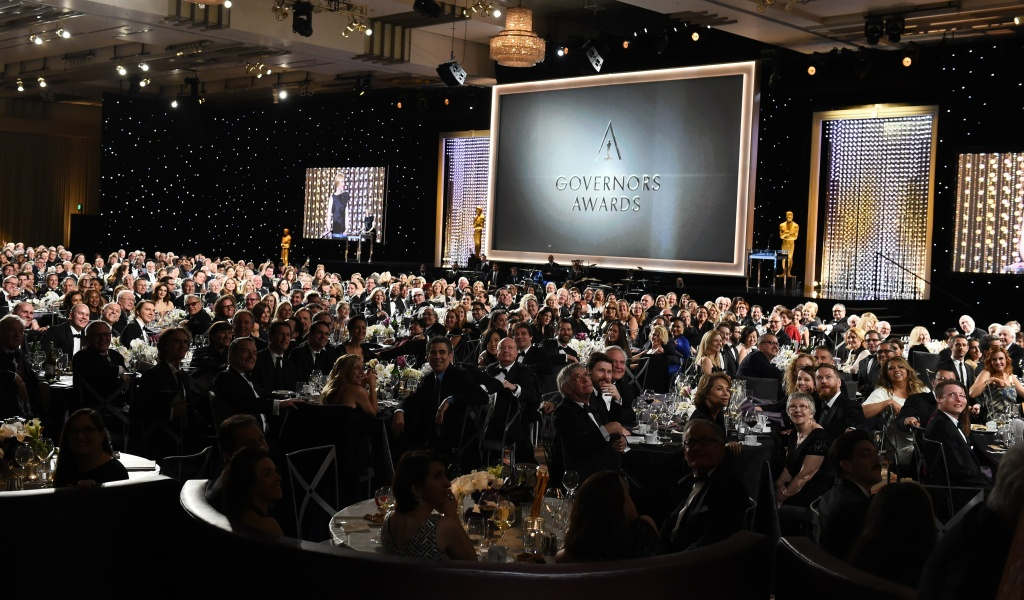 Guests pose for a photo from the Academy photographer during the 7th annual Governors Awards ceremony presented by the Board of Governors of the Academy of Motion Picture Arts and Sciences at the Hollywood & Highland Center in Hollywood, California on November 14, 2015.