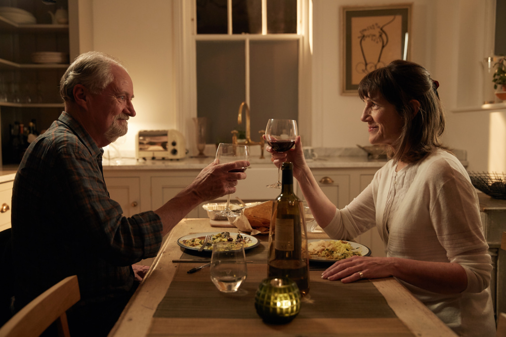 Jim Broadbent and Harriet Walter in the movie