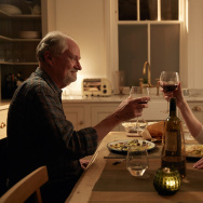"""Jim Broadbent and Harriet Walter in the movie """"The Sense of an Ending."""""""