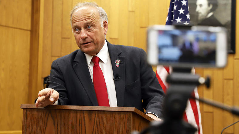 Rep. Steve King at a townhall in Hampton, Iowa, in Summer 2019.