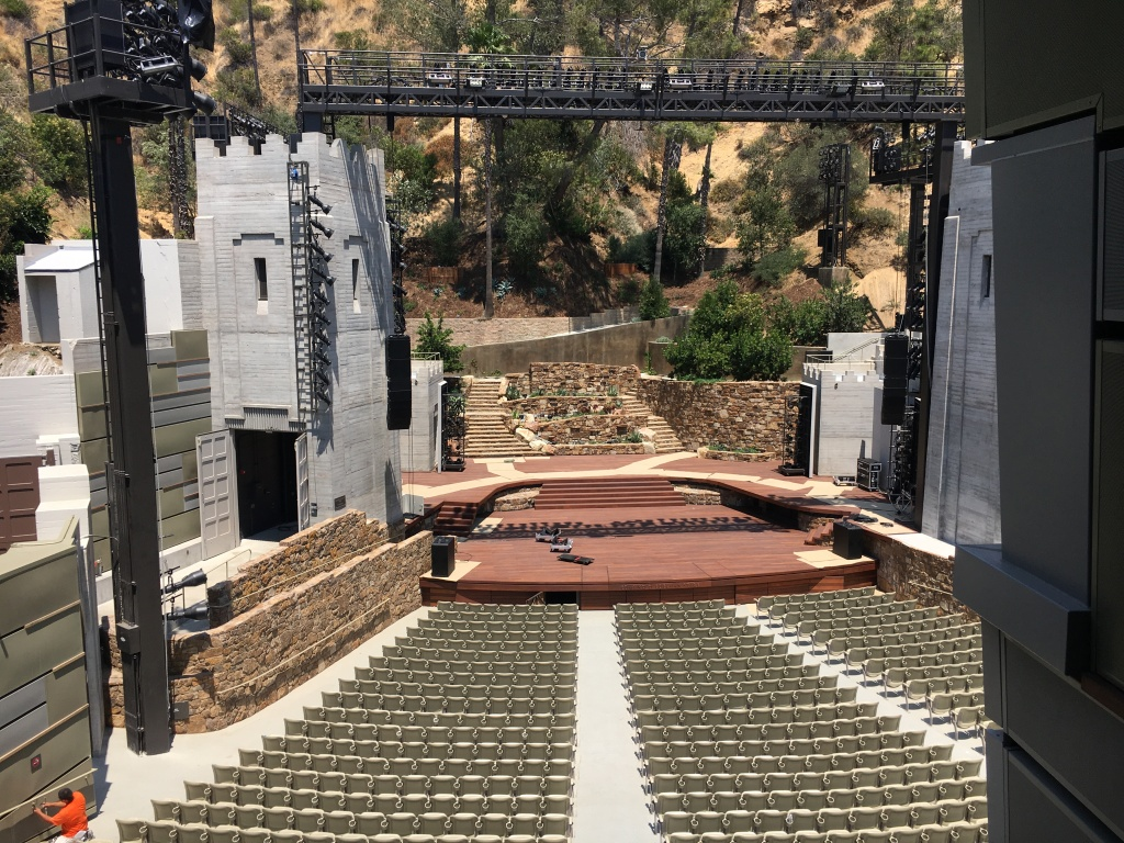 Catwalk view of the Ford Amphitheatre