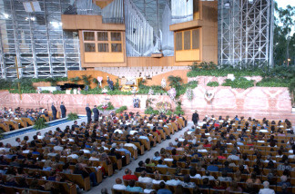 An interior shot of the Crystal Cathedral on July 24, 2002 in Garden Grove, California.