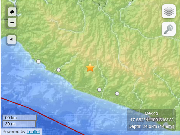 A magnitude-7.2 quake struck central and southern Mexico on Friday. According to USGS, the quake was situated northwest of Acapulco.