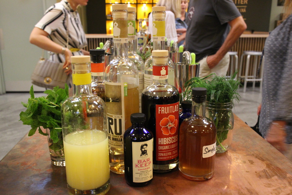 Ingredients at Greenbar's Friday night mixing class.