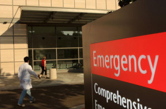The emergency entrance to Ronald Reagan UCLA Medical Center is seen on October 9, 2008 in Los Angeles, California.