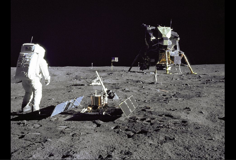 On July 20, 1969, the Apollo 11, with Neil Armstrong and Buzz Aldrin onboard, landed on the Moon.