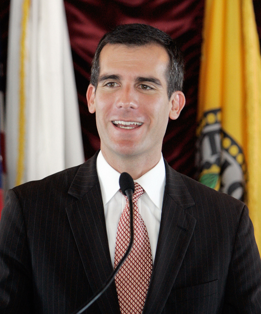 Los Angeles City Council member Eric Garcetti supports preventing valet drivers from parking cars on city streets, at parking meters, or in residential neighborhoods.