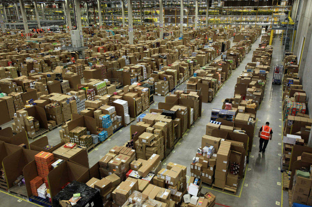 The Amazon Swansea fulfilment centre in Swansea, Wales.