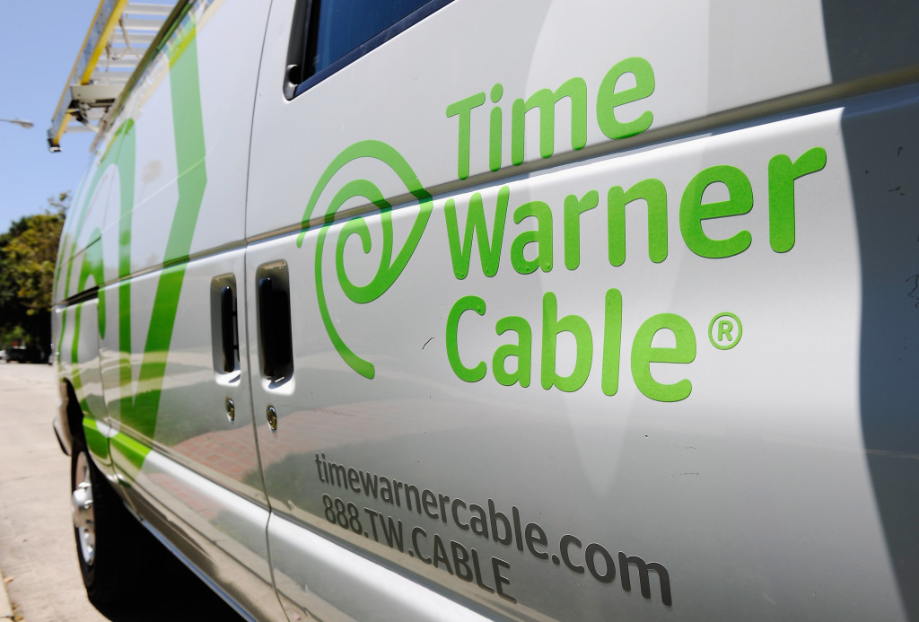 A Time Warner Cable van parked on the street on August 3, 2011 in Los Angeles, California.