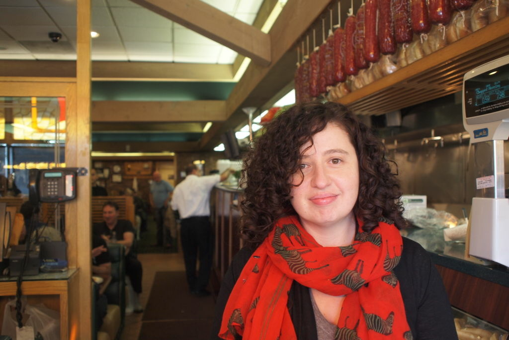 Elina Shatkin of Eat: Los Angeles and LA Weekly at Brent's Deli in Northridge.