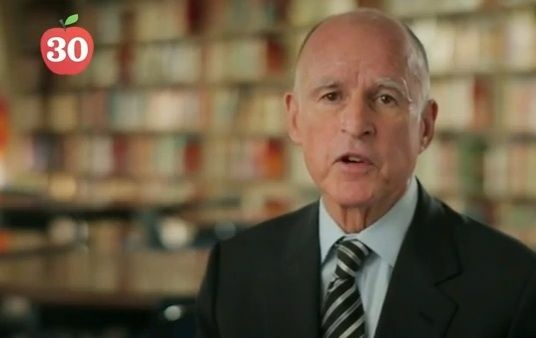 The Yes on 30 campaign has launched five TV commercials, two of which feature the proposition's main proponent, Gov. Jerry Brown