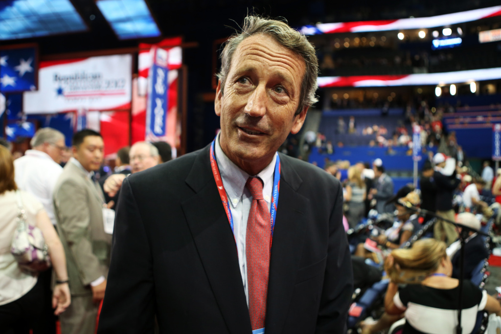 South Carolina Gov. Mark Sanford attends the Republican National Convention at the Tampa Bay Times Forum on August 28, 2012 in Tampa, Florida.
