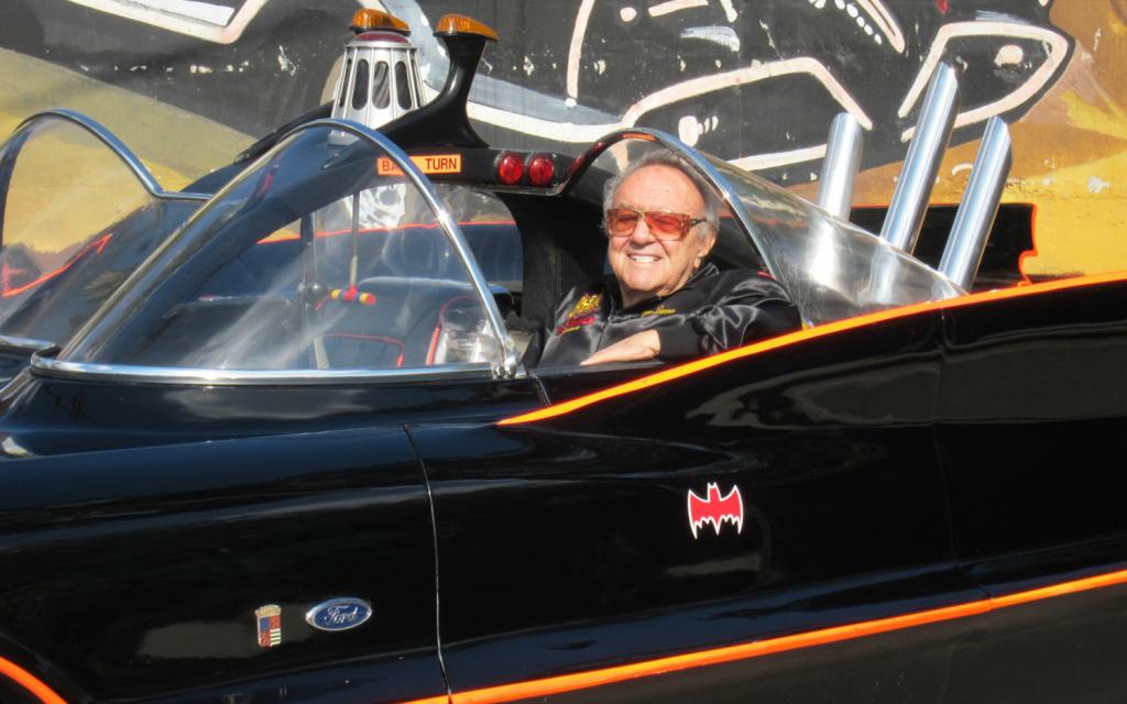 Car creator George Barris with his Batmobile. Barris died this week.