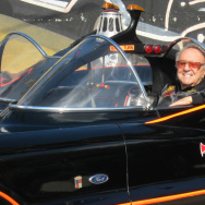 Car creator George Barris with his Batmobile. Barris died this week.