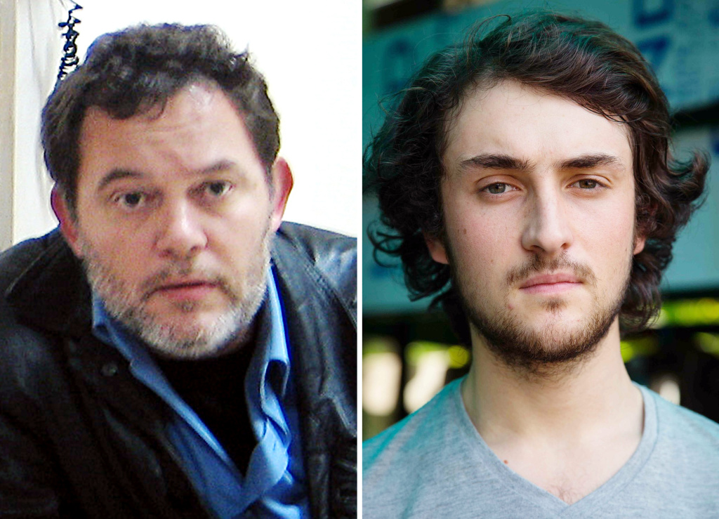 Edouard Elias (R) and Didier Francois. The French journalists were freed April 19 along with Nicolas Henin and Pierre Torres after being held hostage in Syria for 10 months.