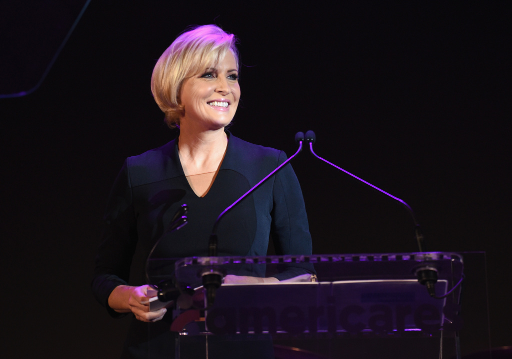 Mika Brzezinski speaks onstage during the 2017 Americares Airlift Benefit at Westchester County Airport on October 14, 2017 in Armonk, New York.