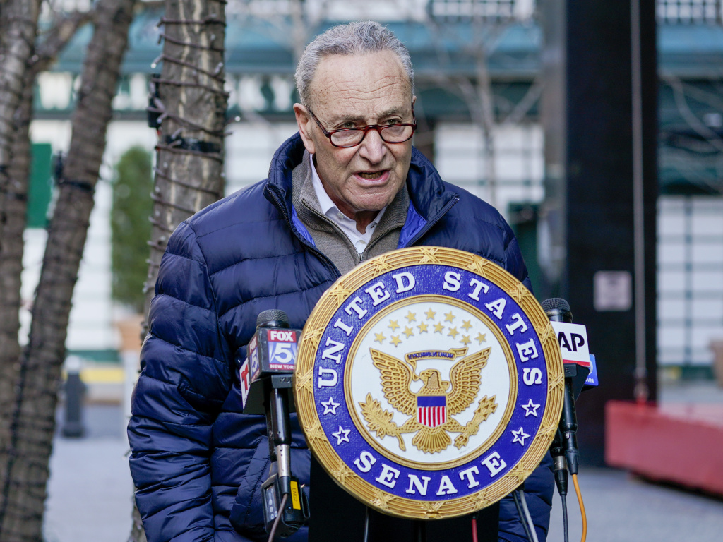 Chuck Schumer, now the Senate majority leader, has rejected some Republicans' argument that a former president can't face an impeachment trial in the Senate.