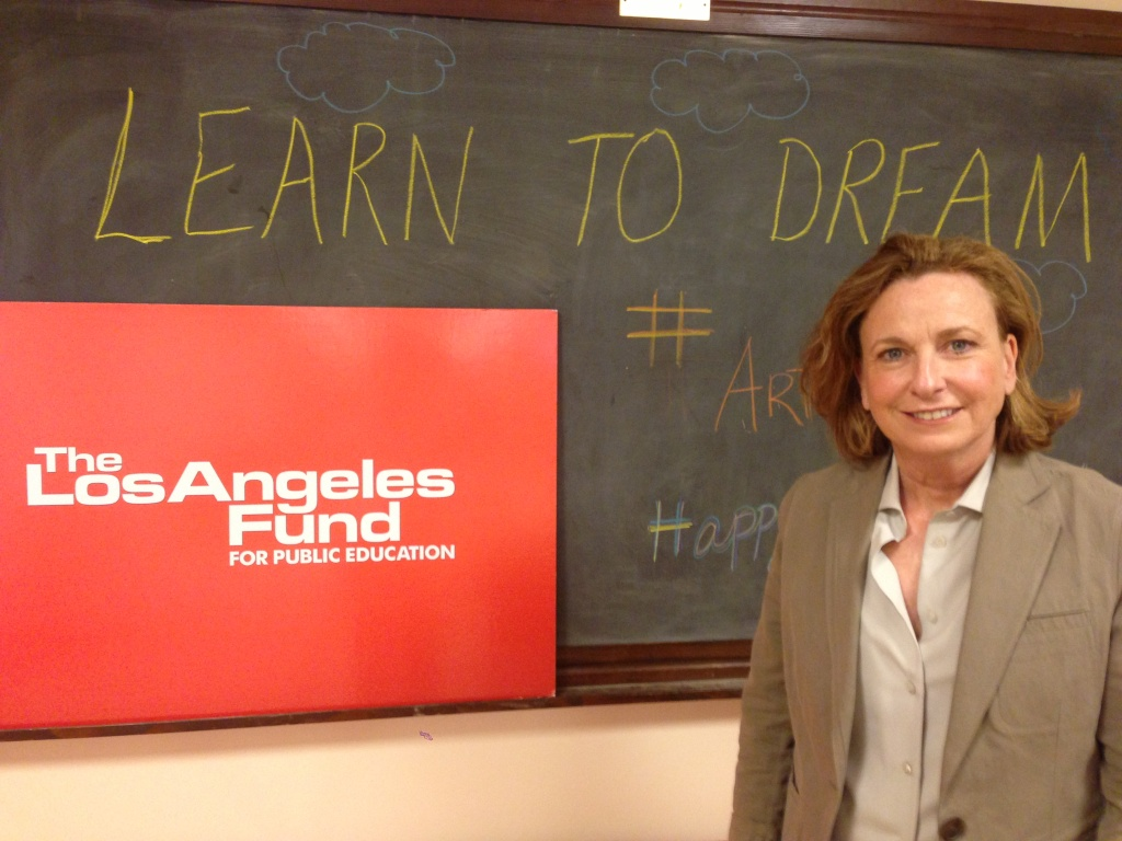 Philanthropist Megan Chernin in the Century City offices of the Los Angeles Fund for Public Education.