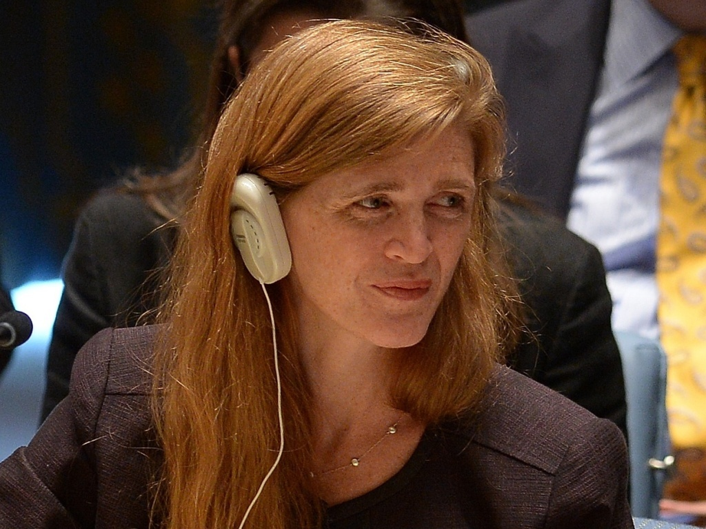 U.S. Ambassador to the U.N. Samantha Power.