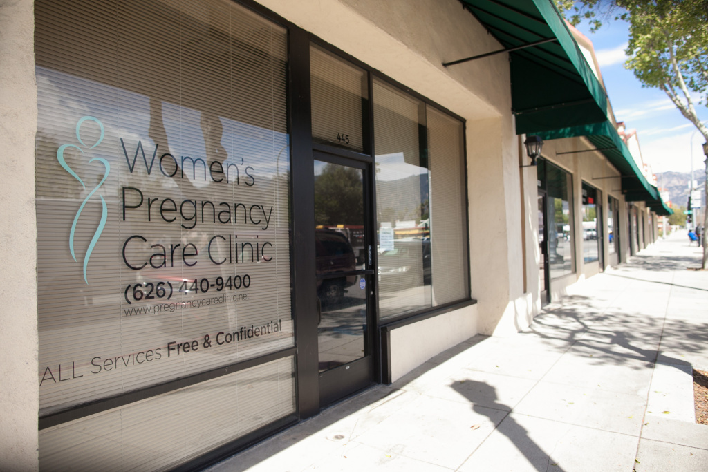 The Women's Pregnancy Care Clinic in Pasadena was one of the clinics affected by the state notification law.
