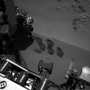 NASA's Mars rover Curiosity dug up five scoops of sand from a patch nicknamed