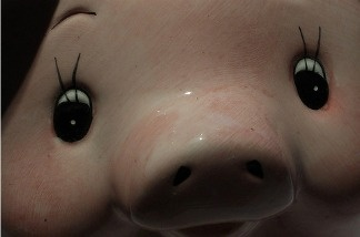 We wouldn't blame you for being suspicious of this piggy bank.