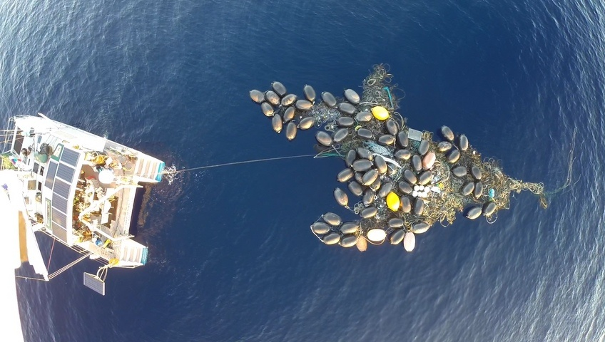 Researchers have discovered an island of trash, solid enough to stand on, in a region of the ocean that has been dubbed the Great Pacific Garbage Patch.
