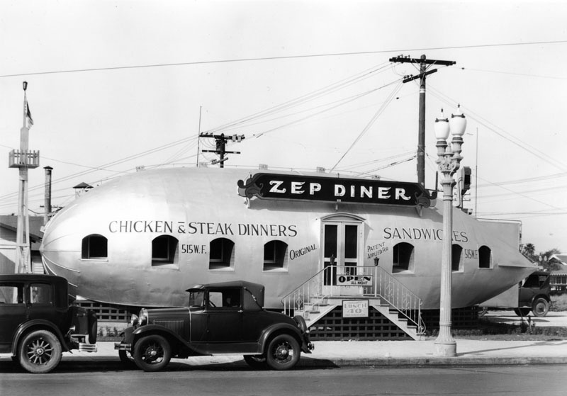 In 1931, you could get lunch for 40-cents at the Zep Diner, at 515 W. Florence Ave, near Figueroa St.