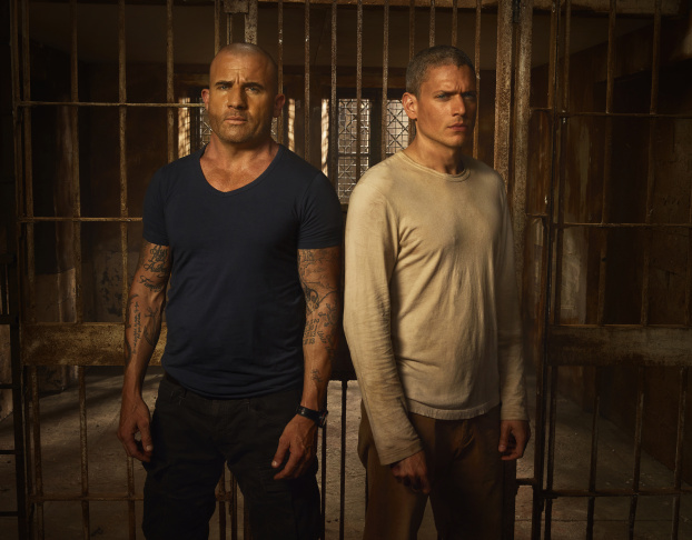 L-R: Dominic Purcell and Wentworth Miller in a publicity photo for