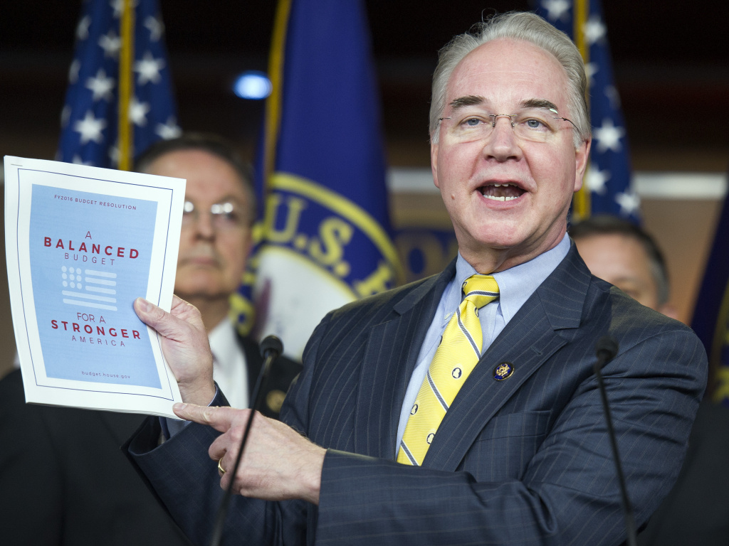 Republican Rep. Tom Price of Georgia, President-elect Donald Trump's pick to be Secretary of Health and Human Services.