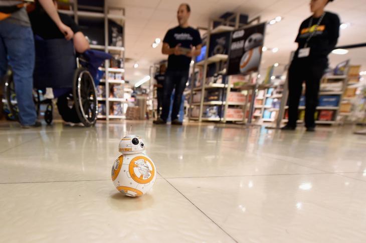BB-8 on display at Toys