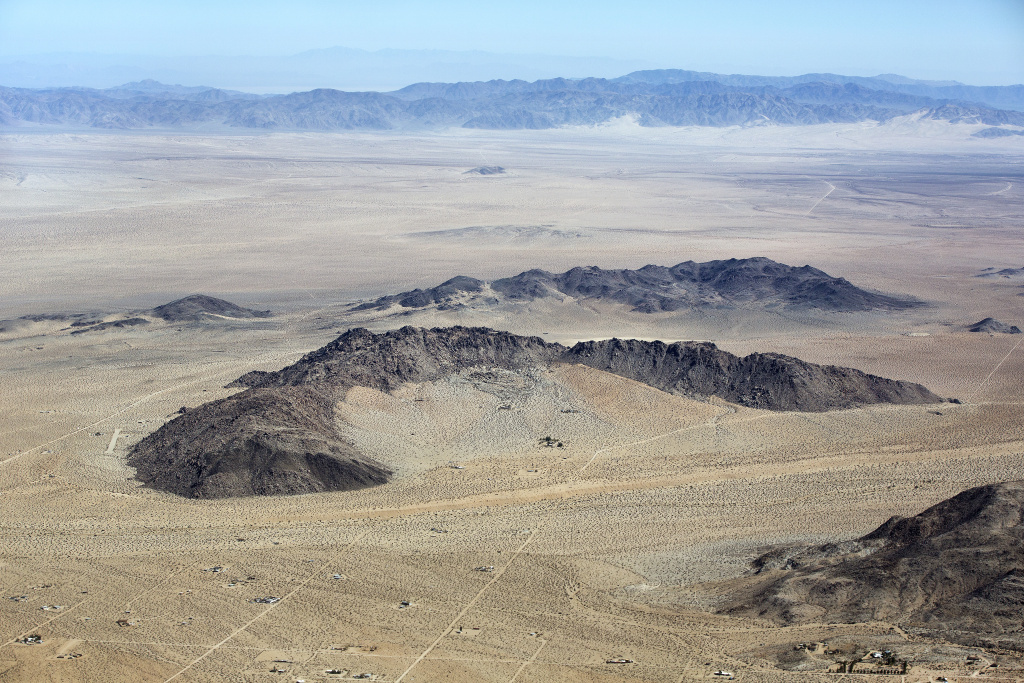 Flyover image of Johnson Valley, a small unincorporated community in San Bernardino County between the Victor Valley and Morongo Basin areas of the Mojave Desert.