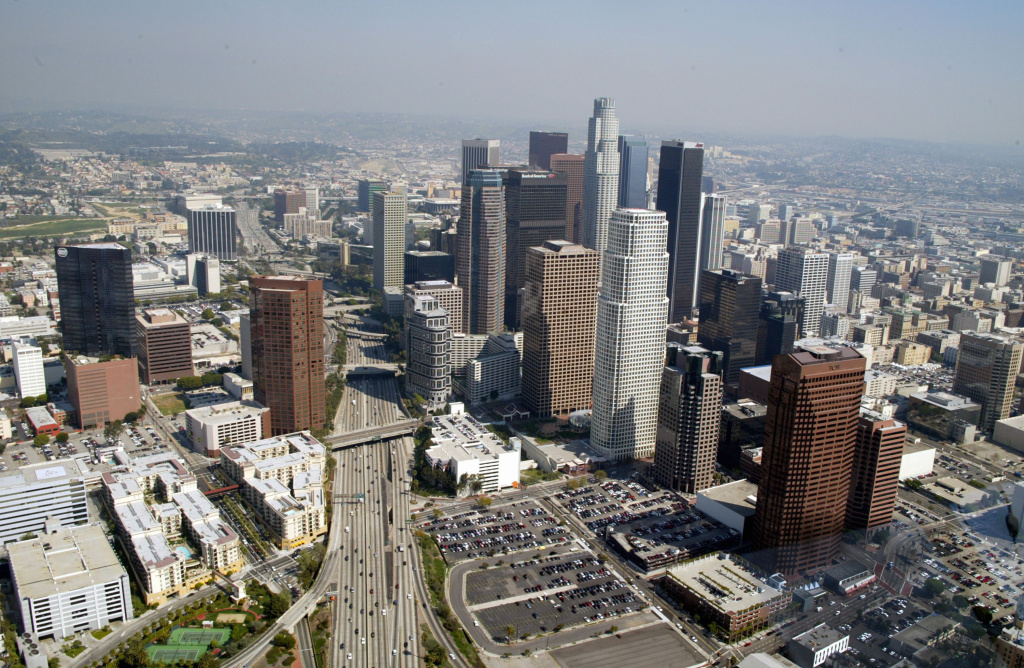 File: Downtown Los Angeles on March 6, 2003.