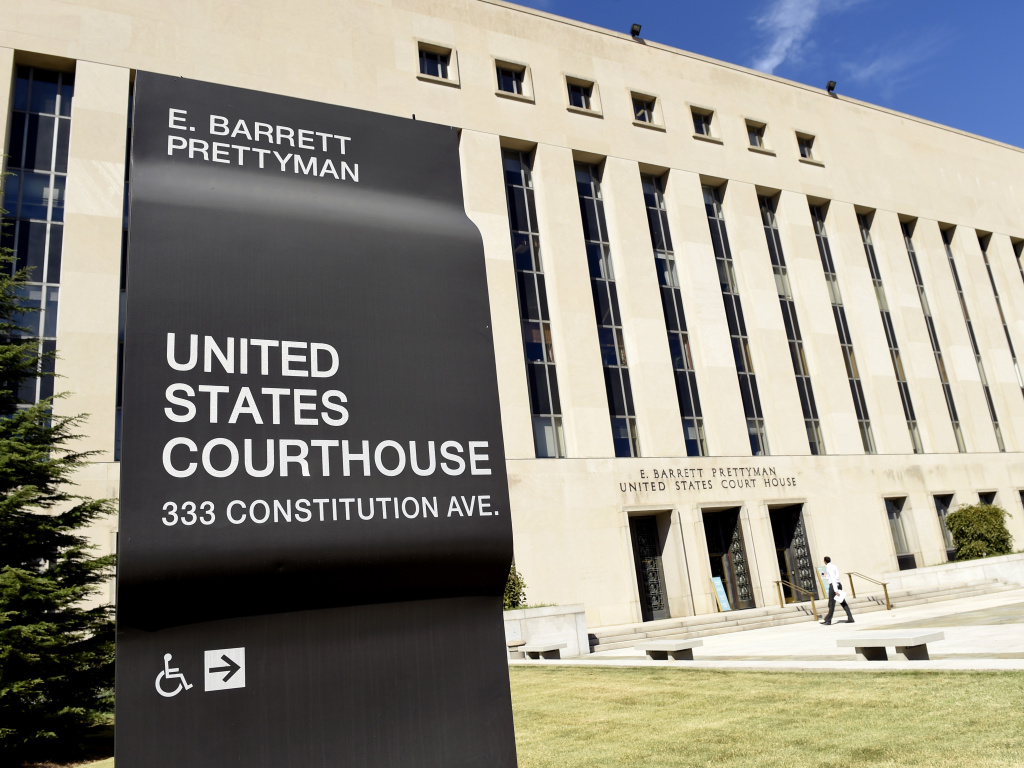 The E. Barrett Prettyman U.S. Courthouse in Washington, D.C., where a federal judge ruled against the Trump administration's detention of asylum-seekers.