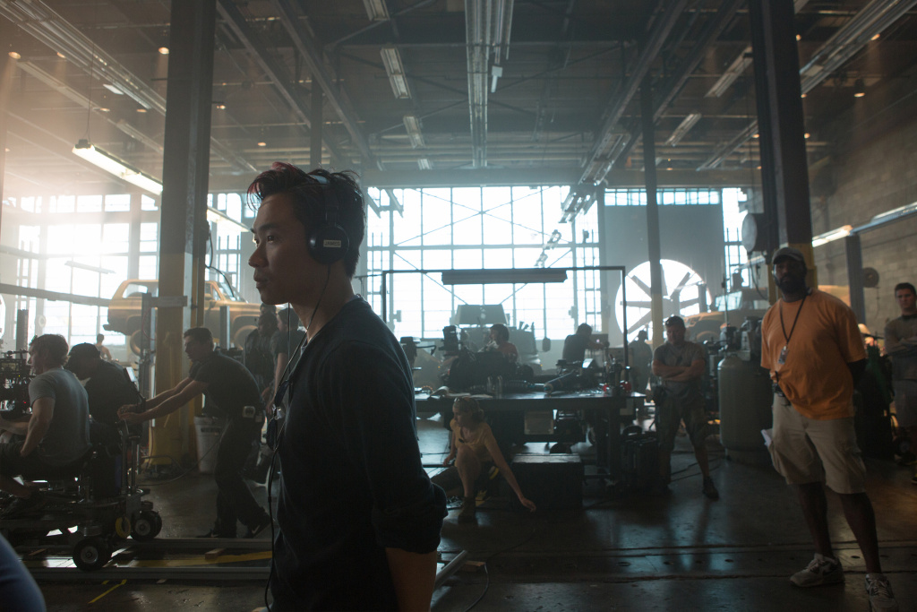 James Wan on the set of
