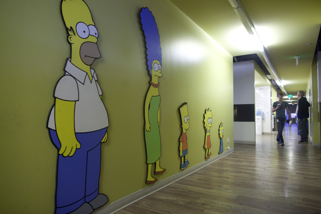The Frame  Video Behind The Scenes At The Simpsons -2449